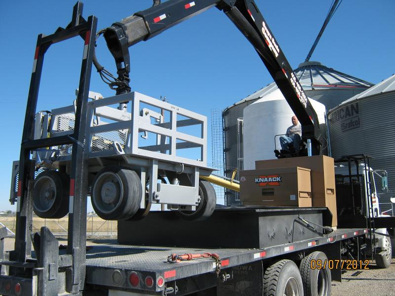 Unloading the test Cart
